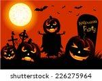 pumpkin ghost  for halloween... | Shutterstock .eps vector #226275964