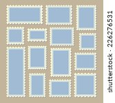 empty blank postage stamps... | Shutterstock .eps vector #226276531