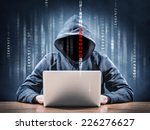 hacker on a computer | Shutterstock . vector #226276627