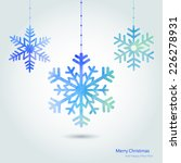 merry christmas card with...   Shutterstock .eps vector #226278931