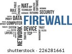 a word cloud of firewall... | Shutterstock .eps vector #226281661