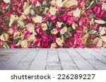 pink dried flowers and leaf... | Shutterstock . vector #226289227