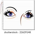 eyes picture with face  | Shutterstock .eps vector #22629148