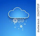 cogwheel cloud theme. vector... | Shutterstock .eps vector #226297219