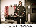 Firefighter Against Truck In...