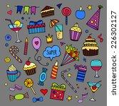 vector set of different hand... | Shutterstock .eps vector #226302127