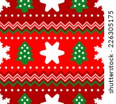seamless christmas pattern | Shutterstock .eps vector #226305175