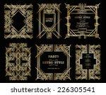 vector set retro pattern for... | Shutterstock .eps vector #226305541