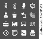 office work icon set  vector... | Shutterstock .eps vector #226306519