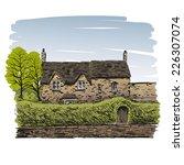 hand drawn house  vector... | Shutterstock .eps vector #226307074