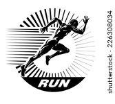 start running. vector...   Shutterstock .eps vector #226308034