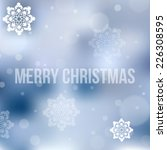 christmas background with... | Shutterstock .eps vector #226308595