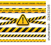 police line  danger tapes and... | Shutterstock .eps vector #226312105