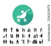 happy family vector icon set  | Shutterstock .eps vector #226323475