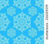 winter seamless pattern with... | Shutterstock .eps vector #226329259