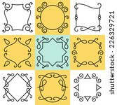 vector set of outline borders... | Shutterstock .eps vector #226329721