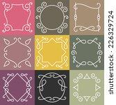 vector set of outline borders... | Shutterstock .eps vector #226329724