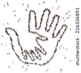 Caring Hand Symbol Formed Out...