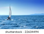 luxury boat traveling on sea