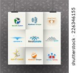 collection of vector logo...   Shutterstock .eps vector #226346155