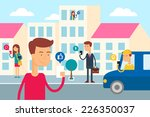 social network concept   people ... | Shutterstock .eps vector #226350037