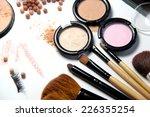 broken powder  foundation and... | Shutterstock . vector #226355254