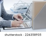 businessman analyzing... | Shutterstock . vector #226358935