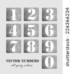 numbers vector set | Shutterstock .eps vector #226366234