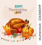 thanksgiving day. greeting card ... | Shutterstock .eps vector #226368349