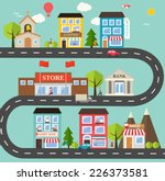 small town urban landscape in... | Shutterstock .eps vector #226373581