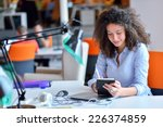 successful business woman... | Shutterstock . vector #226374859