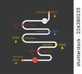 white time line on the black... | Shutterstock .eps vector #226380235