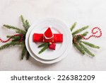 decorated christmas table | Shutterstock . vector #226382209