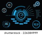 set of blue infographics as... | Shutterstock .eps vector #226384999