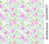 watercolor flower seamless...   Shutterstock . vector #226390477