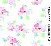 watercolor vector  flower... | Shutterstock .eps vector #226390519