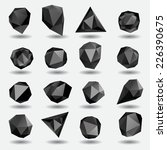 black diamond polygon triangle ... | Shutterstock .eps vector #226390675