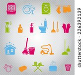 cleaning icons set | Shutterstock .eps vector #226392139