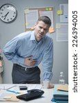 stressed businessman with... | Shutterstock . vector #226394005