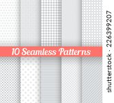 10 Light Grey Seamless Pattern...