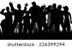 silhouettes of zombies and...