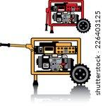portable generator vector   Shutterstock .eps vector #226403125