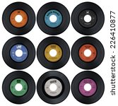 set of vinyl records with fake... | Shutterstock . vector #226410877
