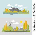 autumn nature design. vector... | Shutterstock .eps vector #226411864