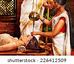 young woman having oil ayurveda ... | Shutterstock . vector #226412509