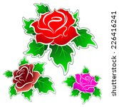 roses vector set  abstract | Shutterstock .eps vector #226416241