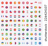 flag of world. vector icons | Shutterstock .eps vector #226424107