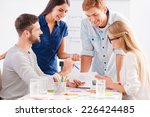 working on project together.... | Shutterstock . vector #226424485