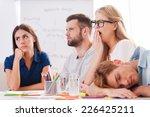 Boring Presentation. Group Of...