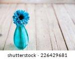 Blue Gerbera Flower In A Vase...